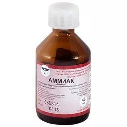 Аммиак, 10%, раствор для наружного применения и ингаляций, 40 мл, 1 шт.
