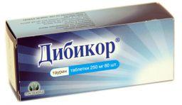 Дибикор, 250 мг, таблетки, 60 шт.