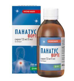 Панатус Форте, 7.5 мг/5 мл, сироп, 200 мл, 1 шт.