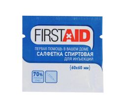 Салфетка антисептическя Firstaid, 60 х 60 мм, салфетки стерильные, 20 шт.