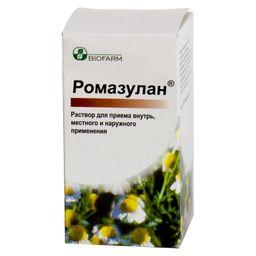 Ромазулан, раствор для местного применения и приема внутрь, 50 мл, 1 шт.