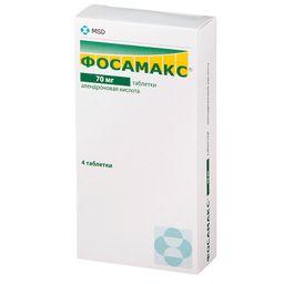 Фосамакс, 70 мг, таблетки, 4 шт.