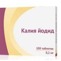 Калия йодид, 0.2 мг, таблетки, 100 шт.
