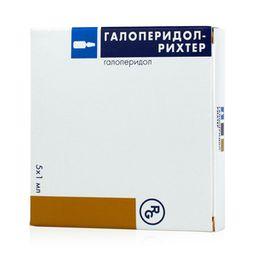Галоперидол-Рихтер, 5 мг/мл, раствор для внутривенного и внутримышечного введения, 1 мл, 5 шт.