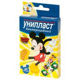 Унипласт лейкопластырь бактерицидный Микки Маус, пластырь для детей, в ассортименте, 20 шт.