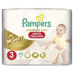 Подгузники-трусики детские Pampers Premium Care pants, 6-11 кг, р. 3 (Midi), 28 шт.