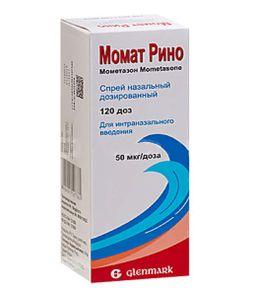Момат Рино, 50 мкг/доза, 120 доз, спрей назальный дозированный, 1 шт.