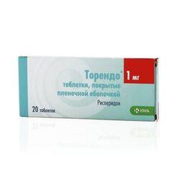 Торендо, 1 мг, таблетки, покрытые пленочной оболочкой, 20 шт.