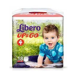 Подгузники-трусики детские Libero Up&Go, 7-11 кг., р. 4, 18 шт.