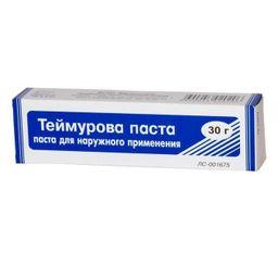 Теймурова паста, паста для наружного применения, 30 г, 1 шт.