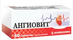 Ангиовит, таблетки, покрытые оболочкой, 60 шт.