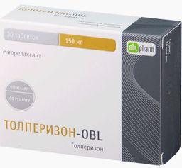 Толперизон-OBL, 150 мг, таблетки, покрытые пленочной оболочкой, 30 шт.