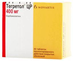 Тегретол ЦР, 400 мг, таблетки пролонгированного действия, покрытые оболочкой, 30 шт.