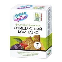 Худеем за неделю Батончик фруктовый очищающий комплекс, батончик, 10 г, 7 шт.