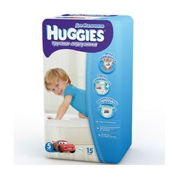 Подгузники-трусики детские Huggies для мальчиков, 13-17 кг, р. 5, 15 шт.