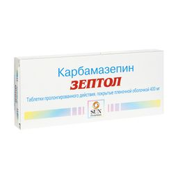 Зептол, 400 мг, таблетки пролонгированного действия, покрытые оболочкой, 30 шт.