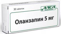 Оланзапин, 5 мг, таблетки, 30 шт.