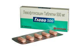 Глево, 500 мг, таблетки, покрытые пленочной оболочкой, 5 шт.