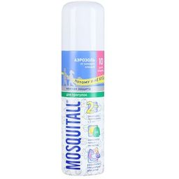Mosquitall Нежная защита для детей аэрозоль, аэрозоль, на кожу, 150 мл, 1 шт.
