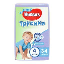 Подгузники-трусики детские Huggies для мальчиков, 4/9-14 кг, 34 шт.