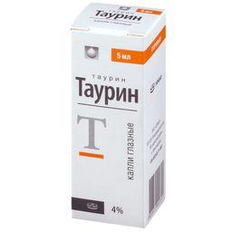 Таурин, 4%, капли глазные, 5 мл, 1 шт.