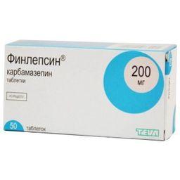 Финлепсин, 200 мг, таблетки, 50 шт.