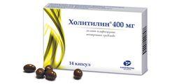 Холитилин, 400 мг, капсулы, 14 шт.