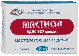 Эдас-927 Мастиол, 0.17 г/доза, гранулы гомеопатические, 6 г, 36 шт.