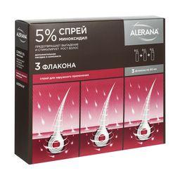 Алерана спрей, 5%, спрей для наружного применения, 60 мл, 3 шт.