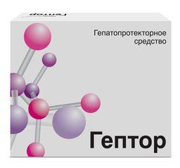 Гептор, 400 мг, таблетки, покрытые кишечнорастворимой оболочкой, 20 шт.