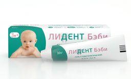 Лидент Бэби, 0.33%+0.1%, гель стоматологический, 10 г, 1 шт.