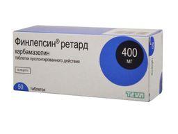 Финлепсин ретард, 400 мг, таблетки пролонгированного действия, 50 шт.
