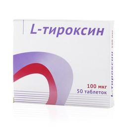 L-Тироксин, 100 мкг, таблетки, 50 шт.