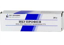 Ибупрофен (мазь), 5%, мазь для наружного применения, 25 г, 1 шт.