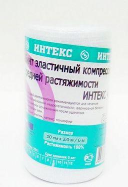 Интекс-Лайт Бинт эластичный компрессионный, 10 см х 3 м, средней растяжимости, 1 шт.