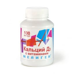 Кальций Д3 с витаминами Мелиген, 570 мг, капсулы, 100 шт.