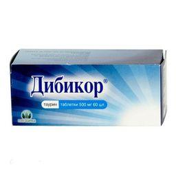 Дибикор, 500 мг, таблетки, 60 шт.