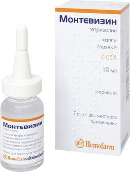 Монтевизин, 0.05%, капли глазные, 10 мл, 1 шт.