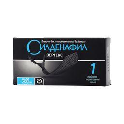 Силденафил Вертекс, 25 мг, таблетки, покрытые пленочной оболочкой, 1 шт.