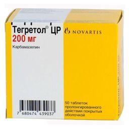 Тегретол ЦР, 200 мг, таблетки пролонгированного действия, покрытые оболочкой, 50 шт.