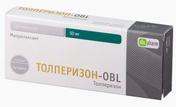 Толперизон-OBL, 50 мг, таблетки, покрытые пленочной оболочкой, 30 шт.