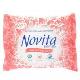 Салфетки влажные для интимной гигиены Novita intimate, салфетки гигиенические, 15 шт.
