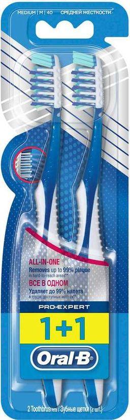 Oral-B ProExpert Зубная щетка средняя 1+1, щетка зубная, 2 шт.
