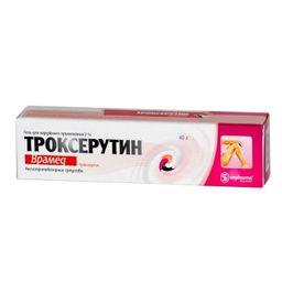 Троксерутин Врамед, 2%, гель для наружного применения, 40 г, 1 шт.