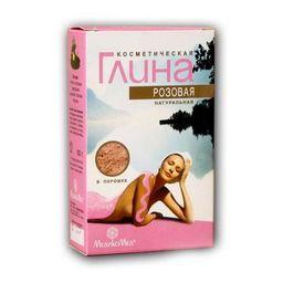 Глина косметическая розовая, порошок для приготовления суспензии для наружного применения, 100 г, 1 шт.