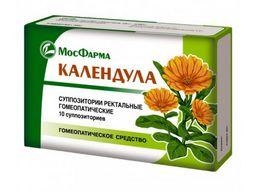 Календула, суппозитории ректальные гомеопатические, 10 шт.
