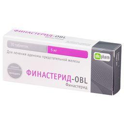 Финастерид-OBL, 5 мг, таблетки, покрытые пленочной оболочкой, 30 шт.