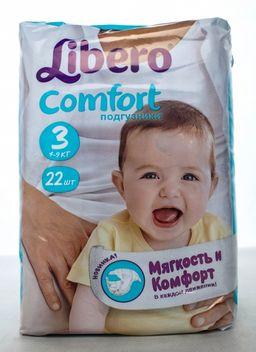 Подгузники-трусики Libero Comfort Midi, 4-9 кг, р. 3, 22 шт.