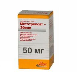 Метотрексат-Эбеве, 10 мг/мл, раствор для инъекций, 5 мл, 1 шт.
