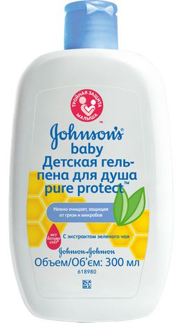 Johnsons Baby Pure Protect гель-пена для душа, гель для душа, 300 мл, 1 шт.